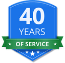 40 years of service shield